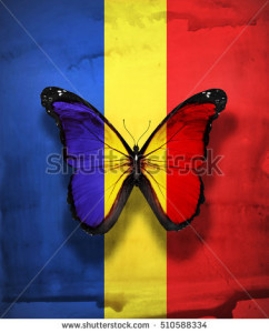 stock-photo-romania-chad-flag-butterfly-with-coat-of-arms-isolated-on-flag-background-510588334